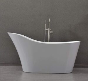 sloped freestanding tub
