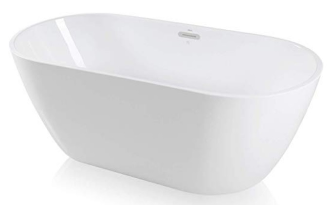 small freestanding bathtub