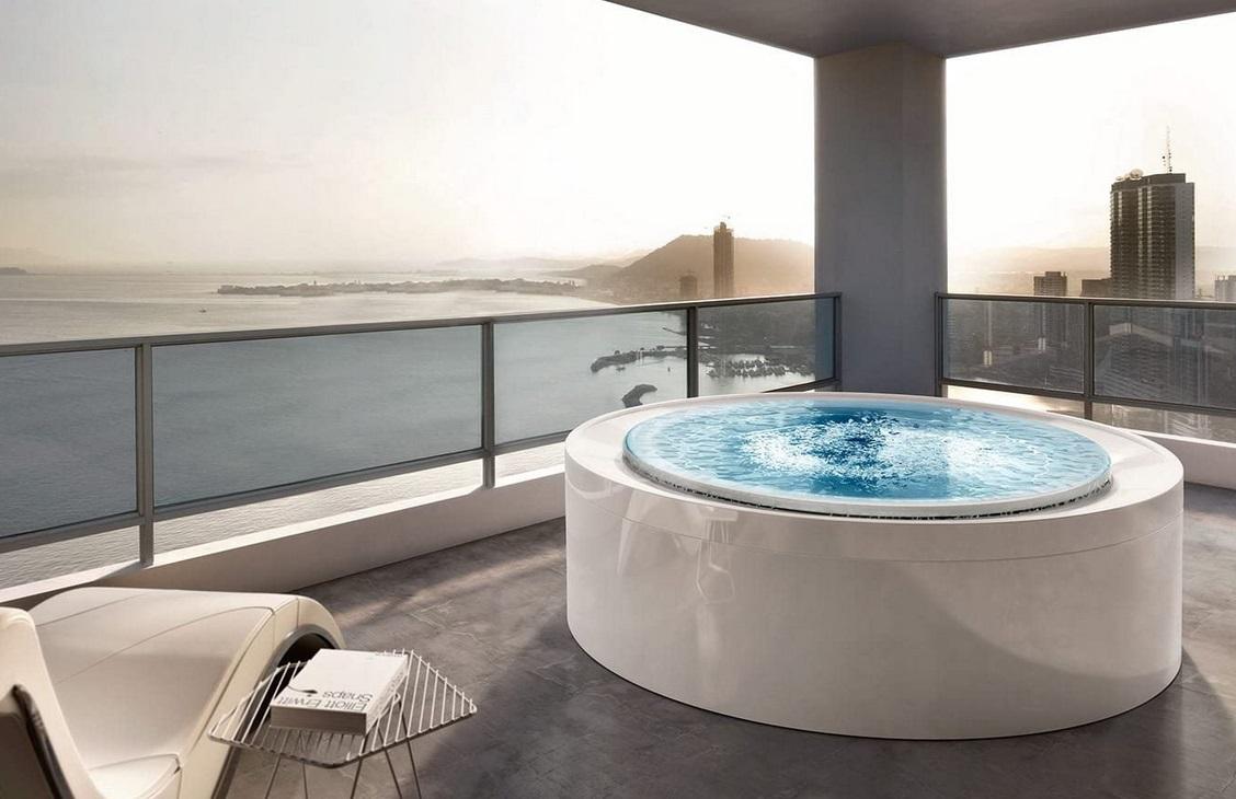 indoor outdoor jetted spa